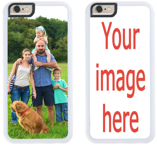 Custom Phone Cases for iPhone 6S Plus, iPhone 6 Plus, iZERCASE [Personalized Custom Picture CASE] Make Your Own Phone Case (White)