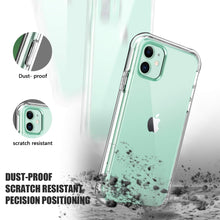 Load image into Gallery viewer, SKYLMW iPhone 11 Case 2019 6.1 inch,[Built in Screen Protector] Full Body Shockproof Dual Layer High Impact Protective Hard Plastic & Soft TPU with Phone Bumper Cover Cases for Women Men,Clear