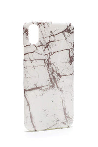 Glossy Marble Phone Case (White, iPhone 7/8)