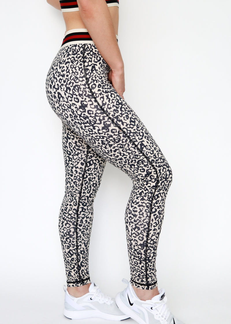 Snow Leopard High Waist Leggings. Soulan Apparel.