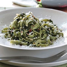 Spinach & Chive Linguine with Basil and Pecorino