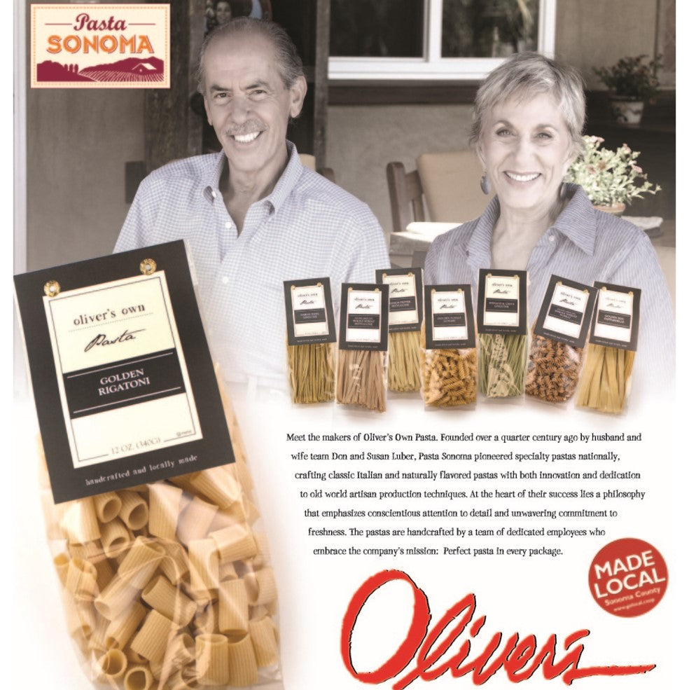 Pasta Sonoma is proud to make 'Oliver's Own Pasta'!