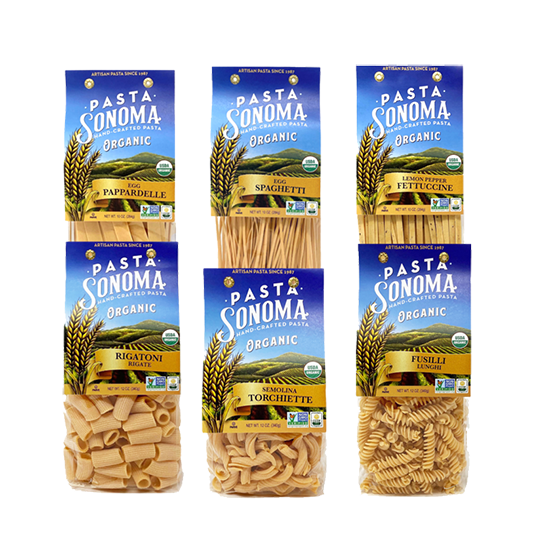 Organic Long & Short Pastas Combo Pack of 6