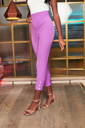 Corset Waist Trousers in Purple