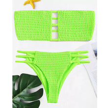 Load image into Gallery viewer, 2019 Sexy Brazilian Bikini Bathing Suit Women Beach Shirred Micro Mini Bikini Push Up Swimsuit Thong Woman Swimwear 2 Piece - DivaJean