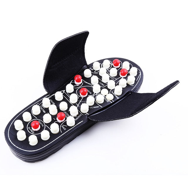 Acupoint Massage Slippers Sandal For Men Feet Chinese Acupressure Therapy Medical Rotating Foot Massager Shoes Unisex - DivaJean