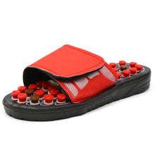 Cargar imagen en el visor de la galería, Acupoint Massage Slippers Sandal For Men Feet Chinese Acupressure Therapy Medical Rotating Foot Massager Shoes Unisex - DivaJean