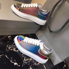 Load image into Gallery viewer, Colorful Shiny Women Casual Shoes Luminous Lace-up Woman Fashion Sneakers Luxury Design Patchwork Tennis Shoes Plus Size - DivaJean