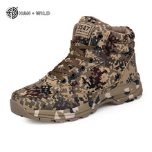 Load image into Gallery viewer, Winter Tactical Men Snow Boots Camouflage Warm Cotton Army Shoes Trainer Footwear Mens Military Ankle Boot - DivaJean