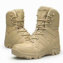 Load image into Gallery viewer, Men Tactical Military Boots Winter Leather Waterproof Desert Combat Army Work Shoes Mens Ankle Boot Man Plus Size - DivaJean