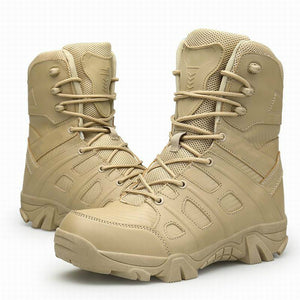 Men Tactical Military Boots Winter Leather Waterproof Desert Combat Army Work Shoes Mens Ankle Boot Man Plus Size - DivaJean