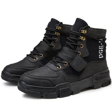 Load image into Gallery viewer, Men Military Tactical Boots Winter Leather Special Force Desert Ankle Combat Boots Men Leather Snow Boots Army Footwear Big Size - DivaJean