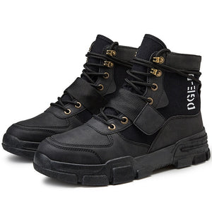 Men Military Tactical Boots Winter Leather Special Force Desert Ankle Combat Boots Men Leather Snow Boots Army Footwear Big Size - DivaJean
