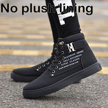 Load image into Gallery viewer, Ankle boots warm men snow boots winter Lace-up men shoes 2019 new arrival fashion flock plush winter boots men size 39-47 - DivaJean
