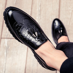 Men Casual shoes breathable Leather Loafers Office Shoes For Men Driving Moccasins Comfortable Slip on Fashion Shoes MA-23 - DivaJean