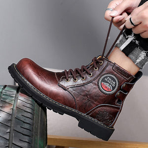 Men's Winter Boots Men Fashion Work Ankle Boots Man Handmade Waterproof Shoes Female Drop Shipping Lace-up Size 46 2019 New - DivaJean