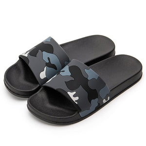 ASIFN Men Slippers Casual Shoes Non-slip Indoor Outdoor Summer Slides Camouflage Sandals 4 Colors Zapatos Hombre - DivaJean