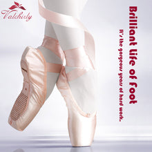 Load image into Gallery viewer, Ballet Pointe Dance Bandage Shoes Girl Woman Professional Dancing Use,Canvas/Satin Material - DivaJean