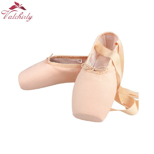Ballet Pointe Dance Bandage Shoes Girl Woman Professional Dancing Use,Canvas/Satin Material - DivaJean