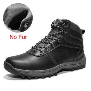 DEKABR Winter Warm Men Boots Genuine Leather Fur Plus Men Snow Boots Handmade Waterproof Working Ankle Boots High Top Men Shoes - DivaJean