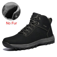 Load image into Gallery viewer, DEKABR Winter Warm Men Boots Genuine Leather Fur Plus Men Snow Boots Handmade Waterproof Working Ankle Boots High Top Men Shoes - DivaJean