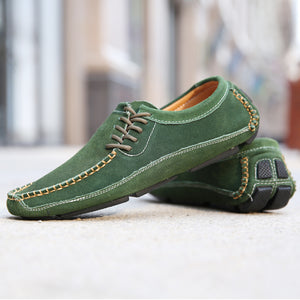 Spring Loafers Shoes Men Green Driving Moccasin Mens Large Size Flats Men Shoes Comfortable Casual Men Sneakers Rubber Man Shoes - DivaJean