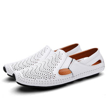 Load image into Gallery viewer, 2020 Fashion Moccasins For Men Loafers Summer Walking Breathable Casual Shoes Men Hook&loop Driving Boats Men Shoes Flats - DivaJean
