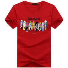 Load image into Gallery viewer, Summer Fashion Men T-shirt Short Sleeve Cotton Print One Piece Shoe Casual Male O Neck T Shirt Casual Funny Japanese Tee Tops - DivaJean