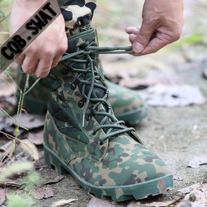2019 Winter Tactical Boots Men Breathable Camouflage Army Desert Safety Shoes Military Combat Boots - DivaJean