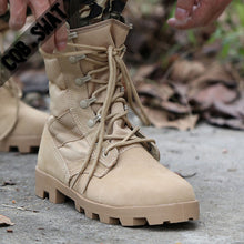Load image into Gallery viewer, 2019 Winter Tactical Boots Men Breathable Camouflage Army Desert Safety Shoes Military Combat Boots - DivaJean