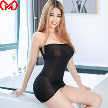 Load image into Gallery viewer, Sexy Sheer Tight Pencil Cute Dress Ice Silk Smooth See Through Micro Mini Dress Bodycon Bandage Dress Club Fantasy Erotic Wear 8 - DivaJean