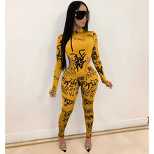 Load image into Gallery viewer, ZKYZWX Sexy 2 Piece Set Women 2020 Spring Clothing Rompers Bodysuit Top Pant Sweat Suits Matching Sets Two Piece Club Outfits - DivaJean