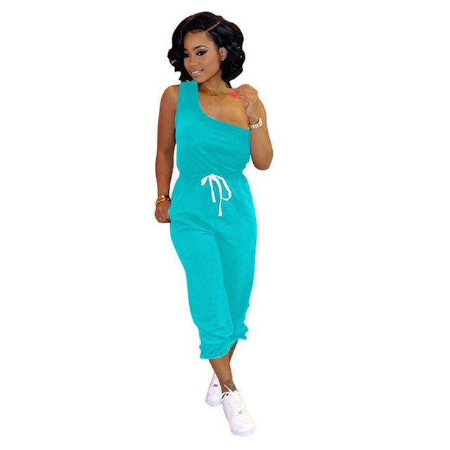 ZOOEFFBB Sexy Plus Size Two Piece Set Women Clother Tracksuit One Shoulder Top and Pants Sweat Suit Summer Outfits Matching Sets - DivaJean