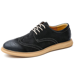 Men Flat Hollow Platform Shoes Oxfords British Style Creepers Brogue Shoe Male Lace Up Footwear Plus Size 38-46 Casual Shoes - DivaJean