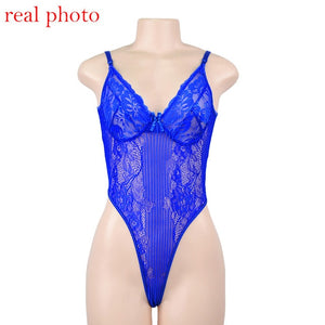 Cryptographic hot sale sheer lace bodysuit women backless transparent mesh bow sexy jumpsuit 2019 catsuit straps bodysuits thong - DivaJean