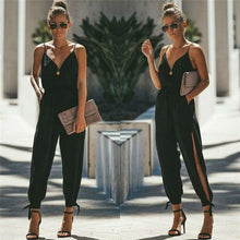 Load image into Gallery viewer, Hot Casual Women Sleeveless Loose Baggy Trousers Overalls Pants Solid Romper Jumpsuit - DivaJean
