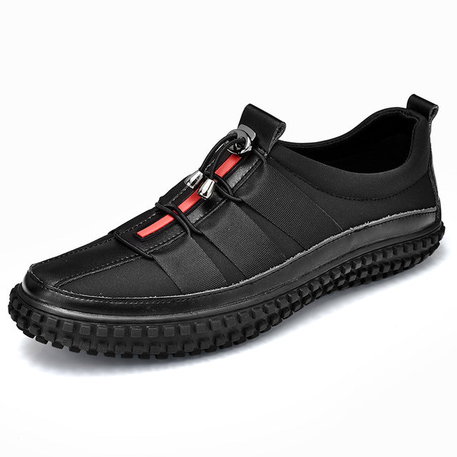 Popular Casual Shoes For Men Brand Designer Leather Sneakers Mens Black Young Casual Men Shoes Luxury Brand Men Footwear - DivaJean