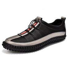 Load image into Gallery viewer, Popular Casual Shoes For Men Brand Designer Leather Sneakers Mens Black Young Casual Men Shoes Luxury Brand Men Footwear - DivaJean