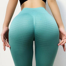 Cargar imagen en el visor de la galería, Ombre Seamless Knitting Sexy Yoga Pants Butt Lifting Sexy Woman Gym Sport Sweat Workout Running High Waist Fitness Leggings - DivaJean