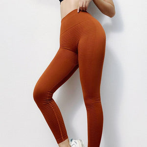 Ombre Seamless Knitting Sexy Yoga Pants Butt Lifting Sexy Woman Gym Sport Sweat Workout Running High Waist Fitness Leggings - DivaJean