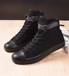 hot 2020 High Quality Men Canvas Shoes Fashion High top Men's Casual Shoes Breathable Canvas Man Lace up Brand Shoes - DivaJean