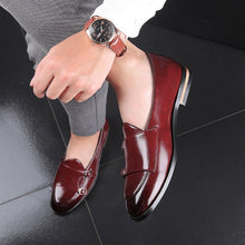 Load image into Gallery viewer, 2020 Large Size 48 Men Loafers Classic Business Dress Shoes Fashion Retro Double Buckle Straps Men Shoes Men Leather Men Flats - DivaJean