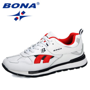 BONA 2020 New Designers Action Leather Sneakers Men Casual Shoes Trendy Cross-Border Outdoor Trainers Shoes Zapatillas Hombre - DivaJean