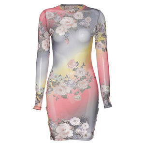 Spring Summer Party Dress 2020 New Print Sexy Tie Dye Bodycon Dresses Kylie Jenner One Sleeve Ruched Dress Holiday Wear Feminino - DivaJean
