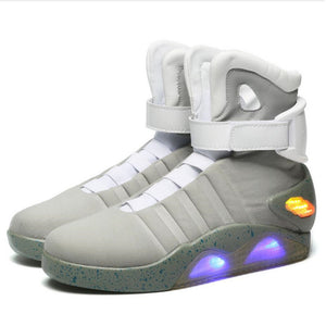 Adults USB Charging Led Luminous Shoes For Men's Fashion Light Up Casual Men Back to the Future Glowing Man Sneakers Free ship - DivaJean