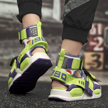Load image into Gallery viewer, Sandals Men Summer Shoes Gladiator 2020 High Top Canvas Beach Casual Shoes Comfortable Slippers Slides Flip Flops Shoes - DivaJean