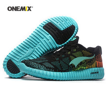 Cargar imagen en el visor de la galería, ONEMIX 2020 Men Running Shoes For Women Mesh Knit Trainers Designer Trends Tennis Sports  Outdoor Travel Trail Walking Sneakers - DivaJean