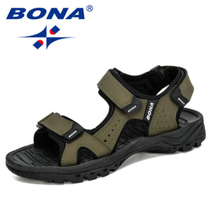 BONA 2020 New Designers Action Leather Shoes Slip-on Slippers Man Comfortable Trendy Beach Men Summer Sandal Zapatillas Hombre - DivaJean