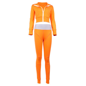 2020 Autumn New Women's Sweat Suit jacket and Pants 2 Pieces Two Piece Sexy Bodycon Casual Sports Celebrity Party Set - DivaJean
