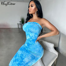 Load image into Gallery viewer, Hugcitar 2020 tie dye print bodycon sexy tube maxi dress summer women fashion streetwear outfits party wear sundress - DivaJean